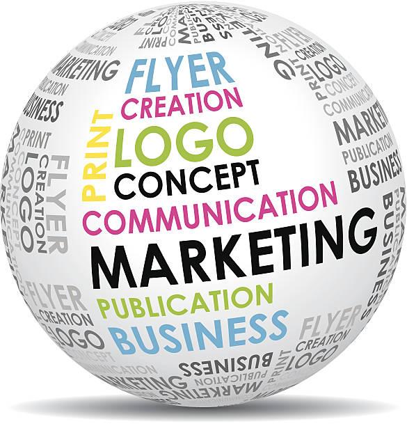 marketing kommunikation welt. - arbeitsvermittlung stock-grafiken, -clipart, -cartoons und -symbole