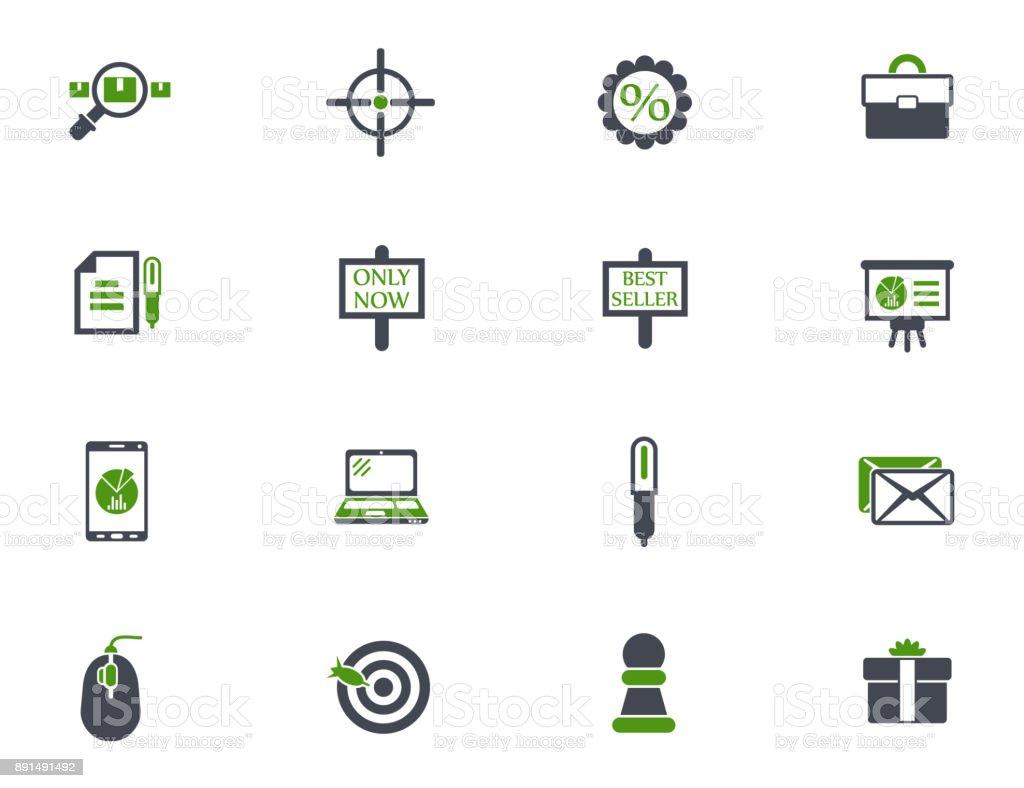 marketing icon set vector art illustration