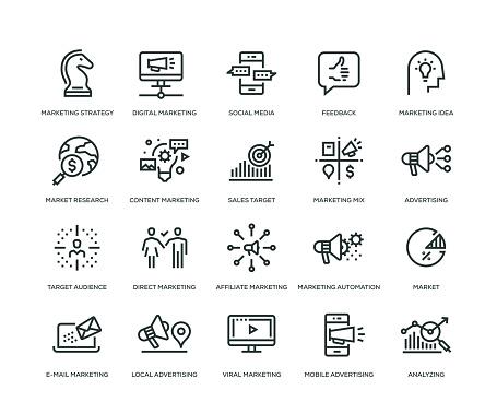 Marketing Icons - Line Series