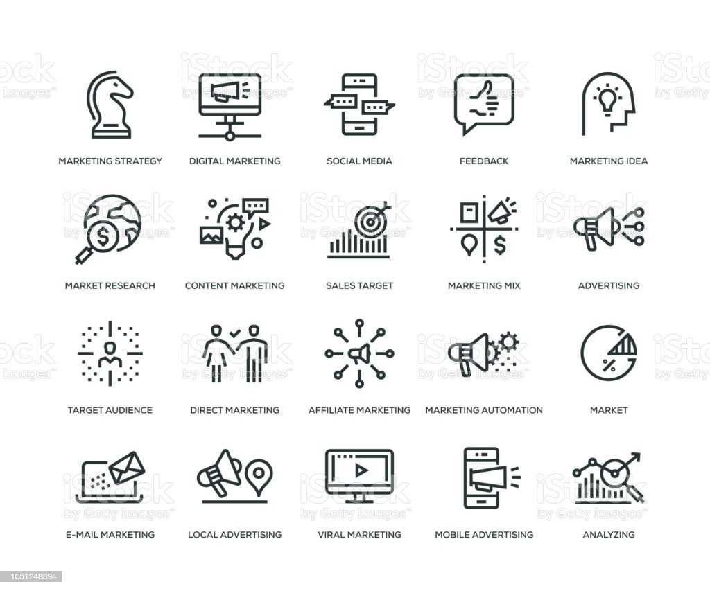Marketing Icons - Line Series vector art illustration