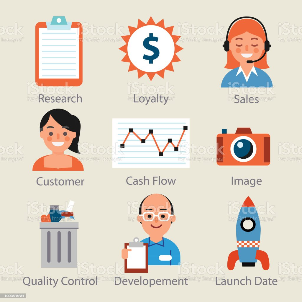marketing icons -one vector art illustration
