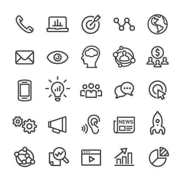 Marketing Icons - Smart Line Series Marketing, sem stock illustrations