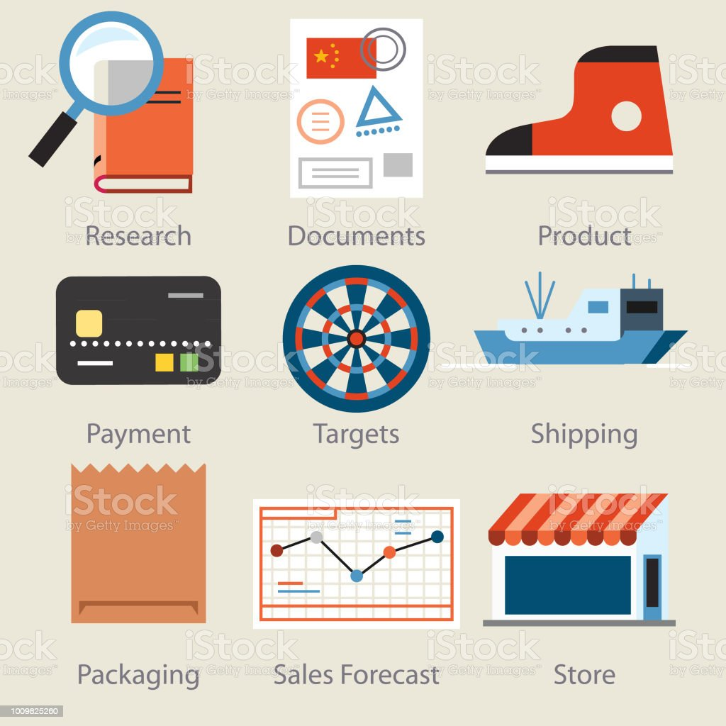 marketing icons -two vector art illustration