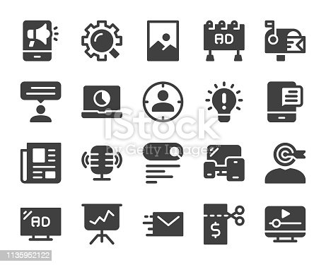 Marketing Icons Vector EPS File.