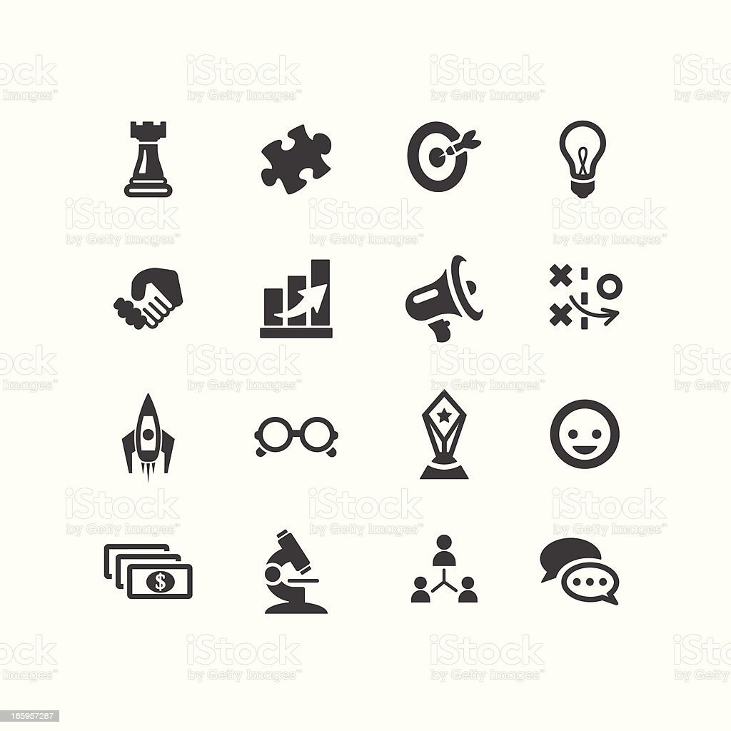 Marketing Icons royalty-free stock vector art