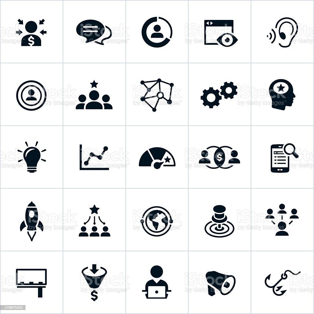 Marketing Icons vector art illustration