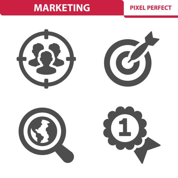 illustrazioni stock, clip art, cartoni animati e icone di tendenza di marketing icons - focus group