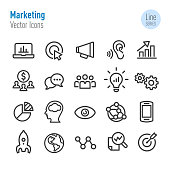Marketing Icons - Vector Line Series