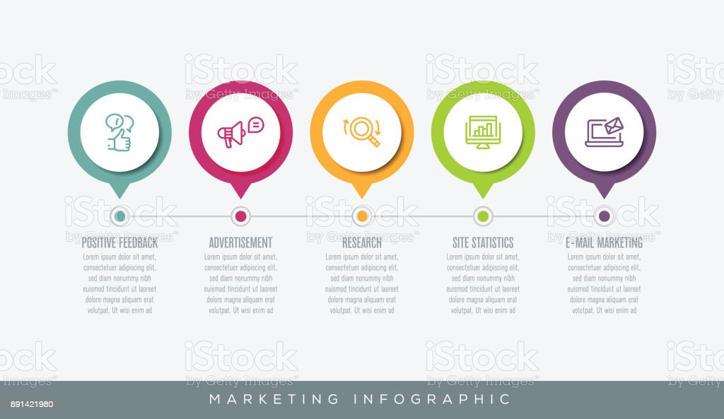 Marketing Infographic vector art illustration