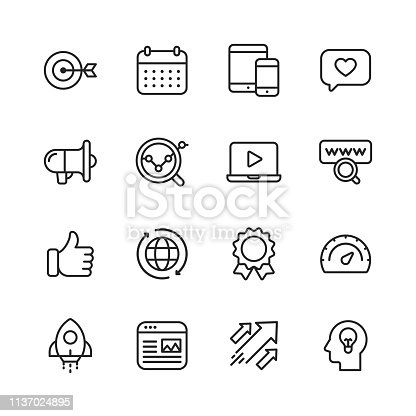 16 Marketing Outline Icons.