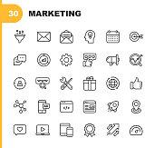 30 Marketing Line Icons.