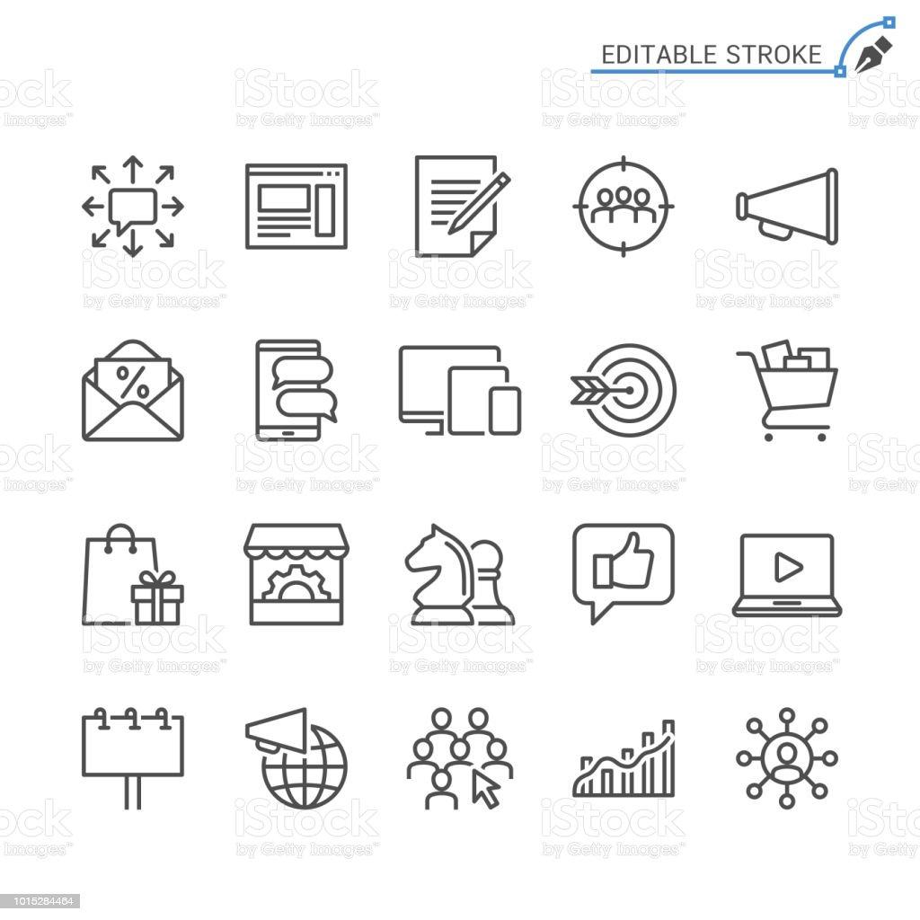 Marketing line icons. Editable stroke. Pixel perfect. royalty-free marketing line icons editable stroke pixel perfect stock illustration - download image now