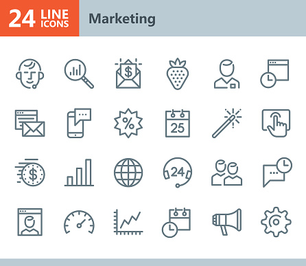 Marketing - line vector icons