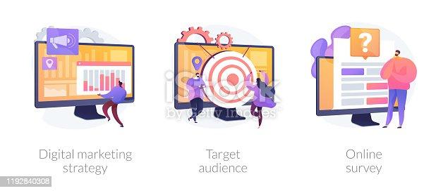 istock Marketing research vector concept metaphors 1192840308