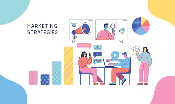 Marketingstrategien – Vektorgrafik