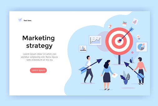 Marketing strategy concept illustration.