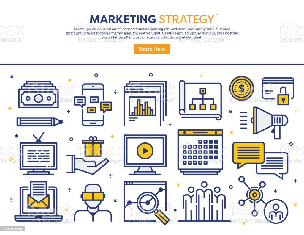 Marketing Strategie-Konzept – Vektorgrafik