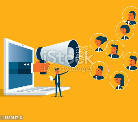 istock Marketing strategy - Laptop 1332264710