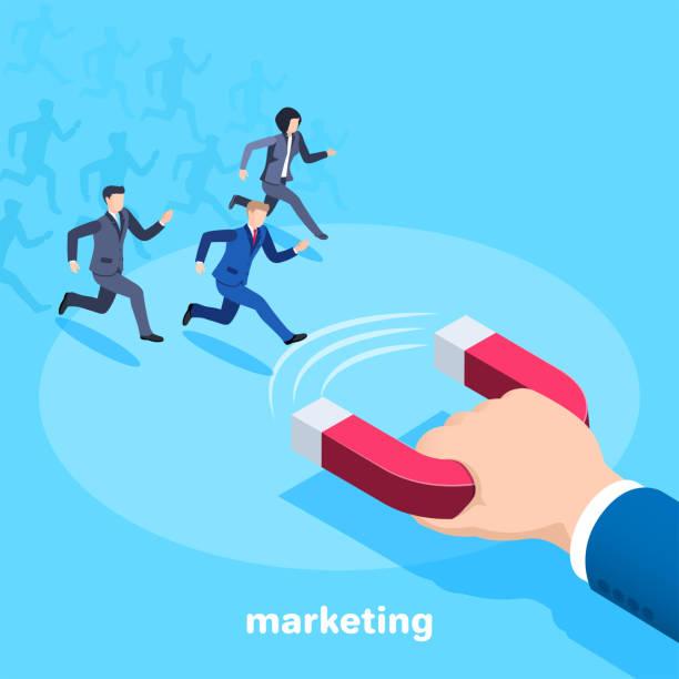 marketing vector art illustration