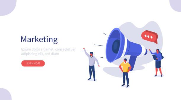 marketing - megaphone stock-grafiken, -clipart, -cartoons und -symbole