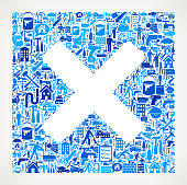 X Marks Home Renovation Repair Vector Icon Pattern