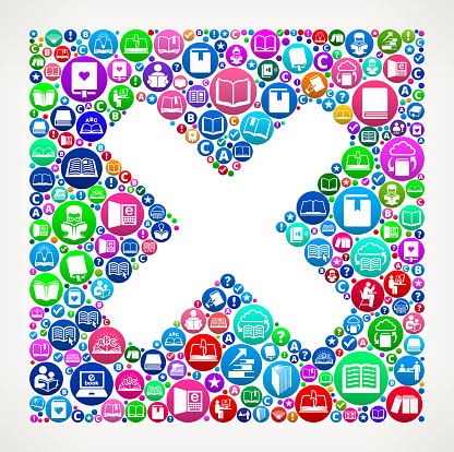 X Marks People Books and Reading Icon Background