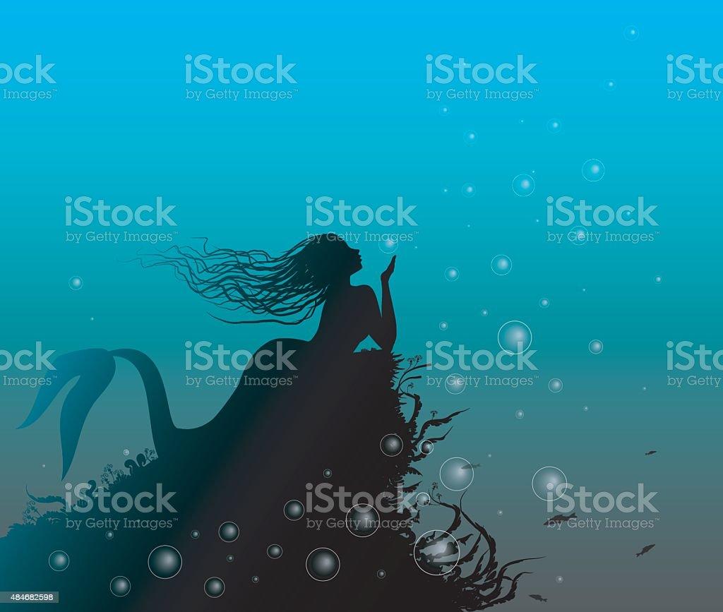 marmaid vector art illustration