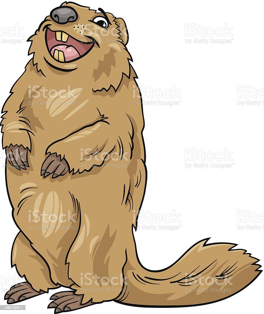 Ilustración de Marmota Ilustración Dibujo Animado De Animal y más ...