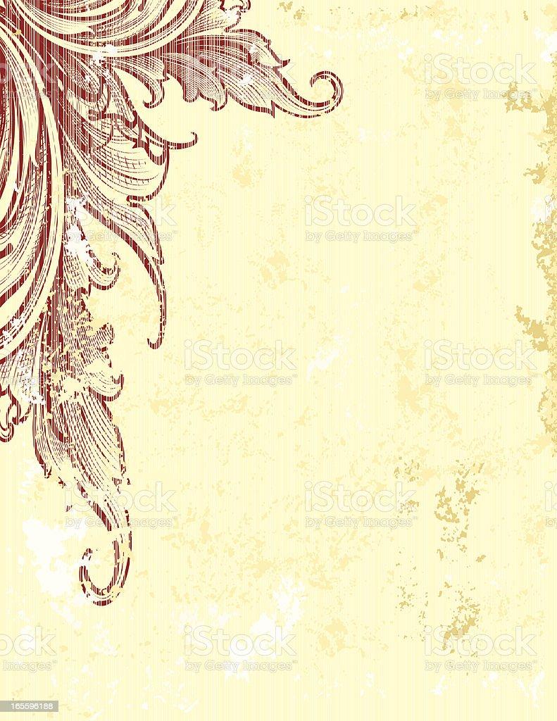 Maroon Scroll Corner ilustración de maroon scroll corner y más banco de imágenes de abstracto libre de derechos