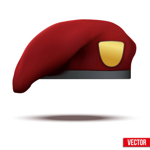 Royalty Free Military Red Beret Clip Art, Vector Images ...