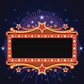 Illustration of beautiful Marquee banner, all elements is individual objects, used simple gradient colors, No transparencies. Hi res jpeg included. User can edit easily, Please view my profile.