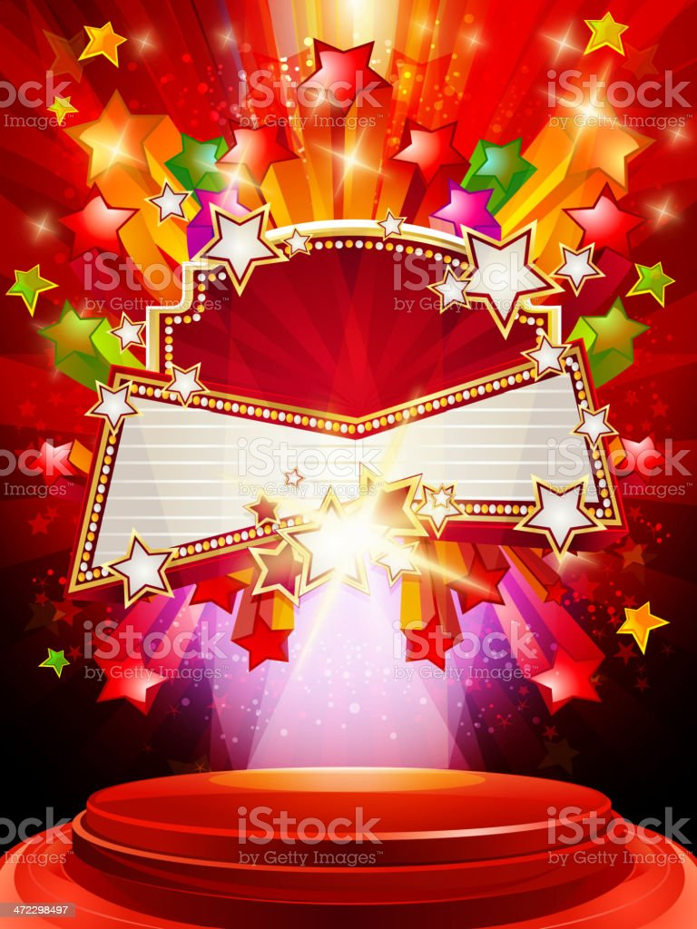 Marquee Display Banner with Background royalty-free stock vector art