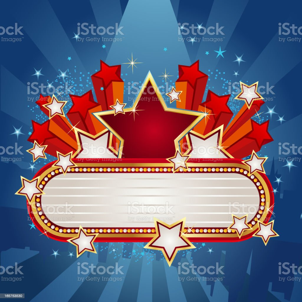 Marquee Display with Star burst royalty-free marquee display with star burst stock vector art & more images of arts culture and entertainment
