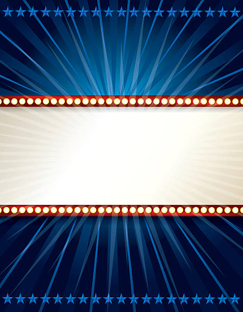 marquee lights background - oscars stock illustrations, clip art, cartoons, & icons