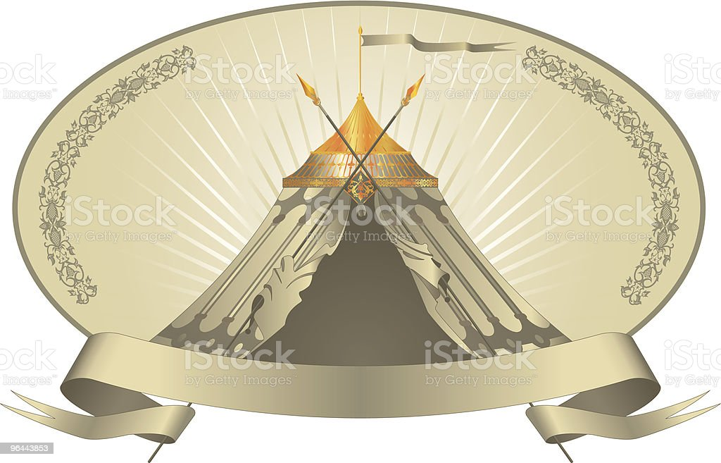 Marquee Tent - Royalty-free Achtergrond - Thema vectorkunst