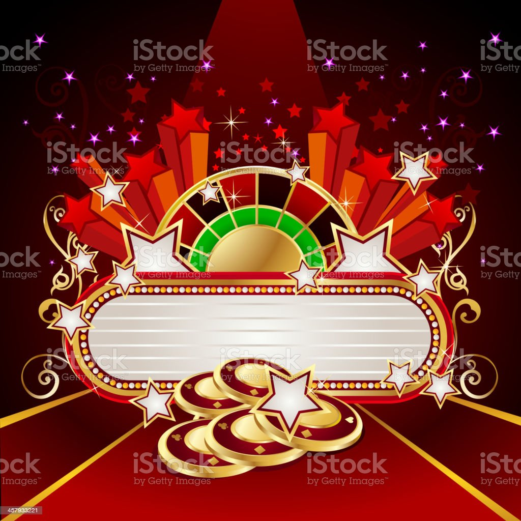 Marquee with Casino Background royalty-free stock vector art