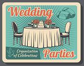 Marriage celebration, wedding party organization