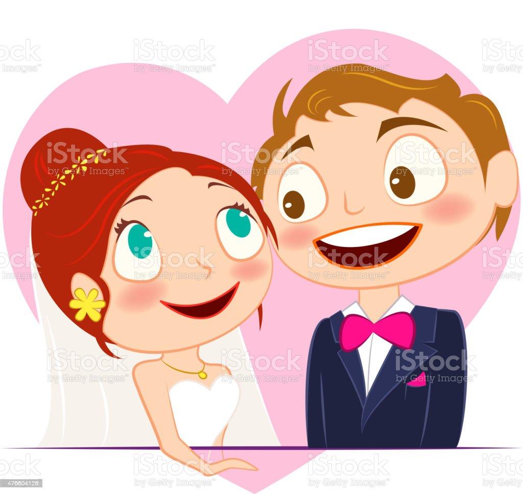 Matrimonio Pareja De Dibujos Animados - Arte vectorial de stock y ...
