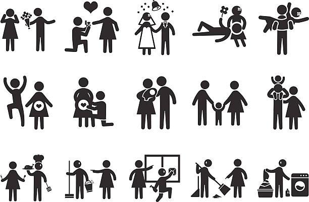 結婚生活のアイコン-illustration - 楽しい 洗濯点のイラスト素材/クリップアート素材/マンガ素材/アイコン素材