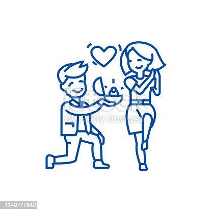 b294a9b4d1 ᐈ Imagen de Pareja en icono de delgada línea del amor. Pareja ...