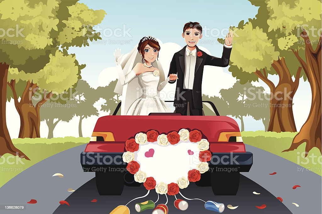 Married couple royalty-free stock vector art