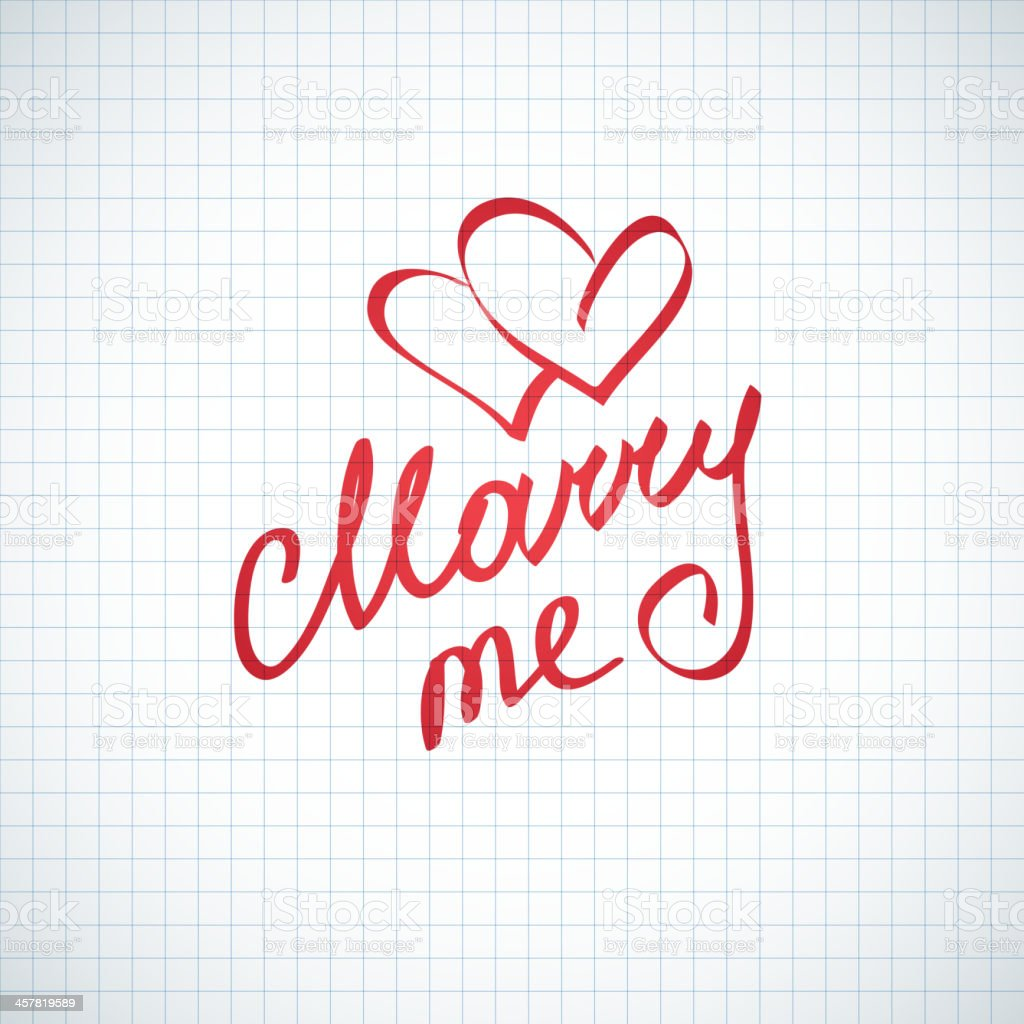 marry me, vector hanwritten text