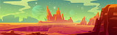 istock Mars landscape, alien planet, martian background 1287440601