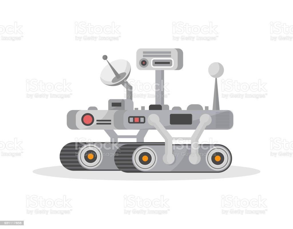 Mars rover isolated vector icon vector art illustration