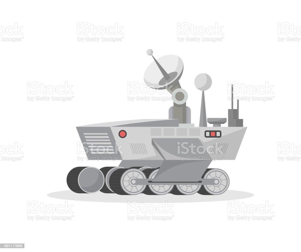 Mars science laboratory isolated vector icon vector art illustration
