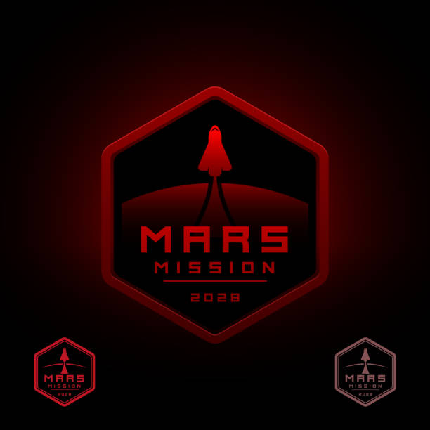 illustrations, cliparts, dessins animés et icônes de mars space misson design - mars