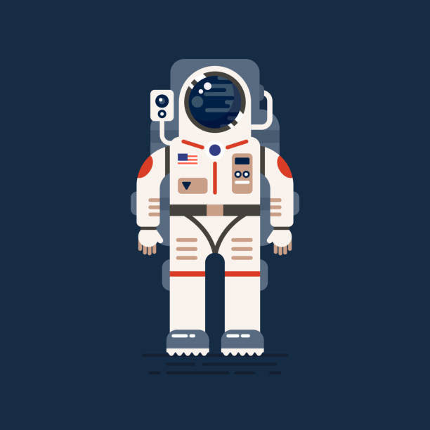 mars-colonizations kopie - astronaut stock-grafiken, -clipart, -cartoons und -symbole