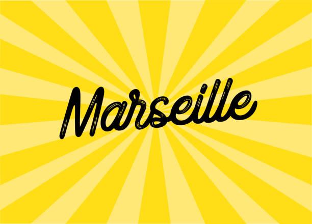 stockillustraties, clipart, cartoons en iconen met marseille belettering design - marseille