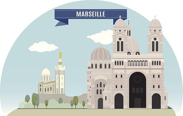 stockillustraties, clipart, cartoons en iconen met marseille - marseille