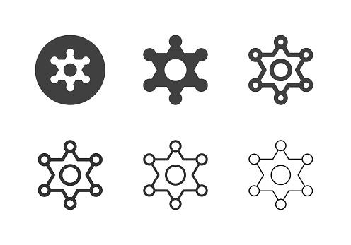 Marshal Star Badge Icons - Multi Series
